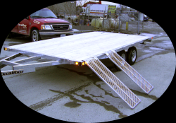 Excalibur Trailers - Deckover w/ Side Ramps