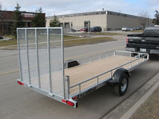 Excalibur 5 X 16 Double Inline Ramp Load Trailer - Rear